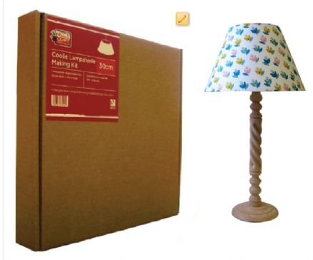 30cm Coolie Lampshade Making Kit (Duplex Fitting)